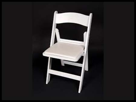 White Padded Wedding Chair
