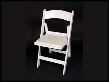 White Padded Wedding Chair